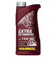 Cинтетическое трансмиссионное (МКПП) масло MANNOL Extra Getriebeoel 75W-90 (1L)