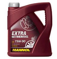 Cинтетическое трансмиссионное (МКПП) масло MANNOL Extra Getriebeoel 75W-90 (4L)