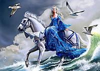 """Схема для вишивки бісером дівчина і море """"Морська фантазія"""""""