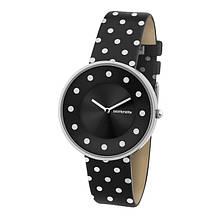 Женские винтажные кварцевые наручные часы Lambretta Cielo Dots- чёрные, белые, синие
