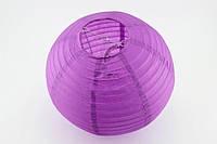 Шар плиссе декоративный подвесной  30 см. фиолетовый
