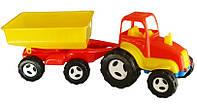 Трактор с прицепом, 74х26х26см