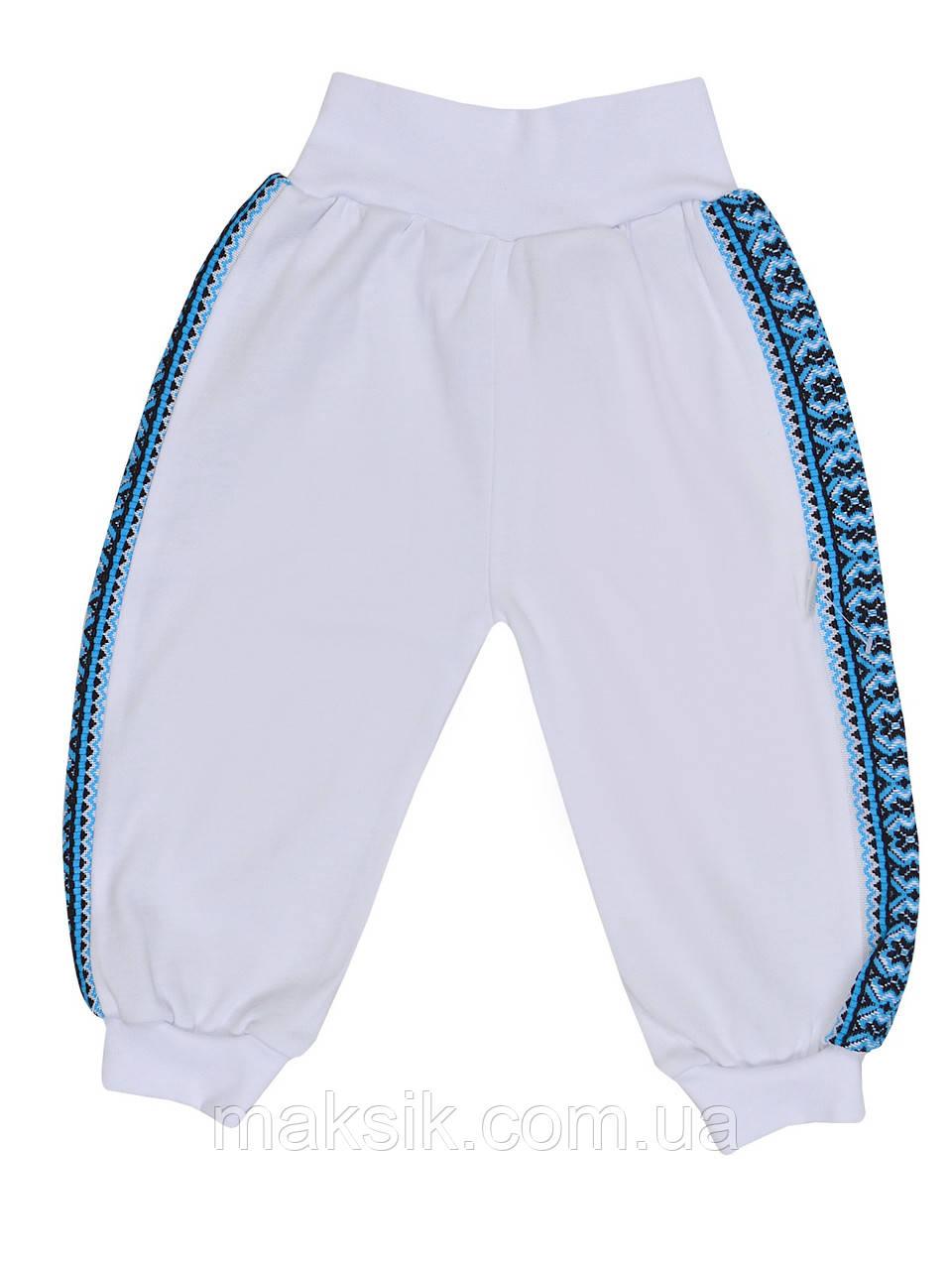 "Белые штанишки ""Вышиванка""  р.56-80"
