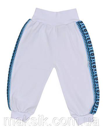 "Белые штанишки ""Вышиванка""  р.56-80, фото 2"