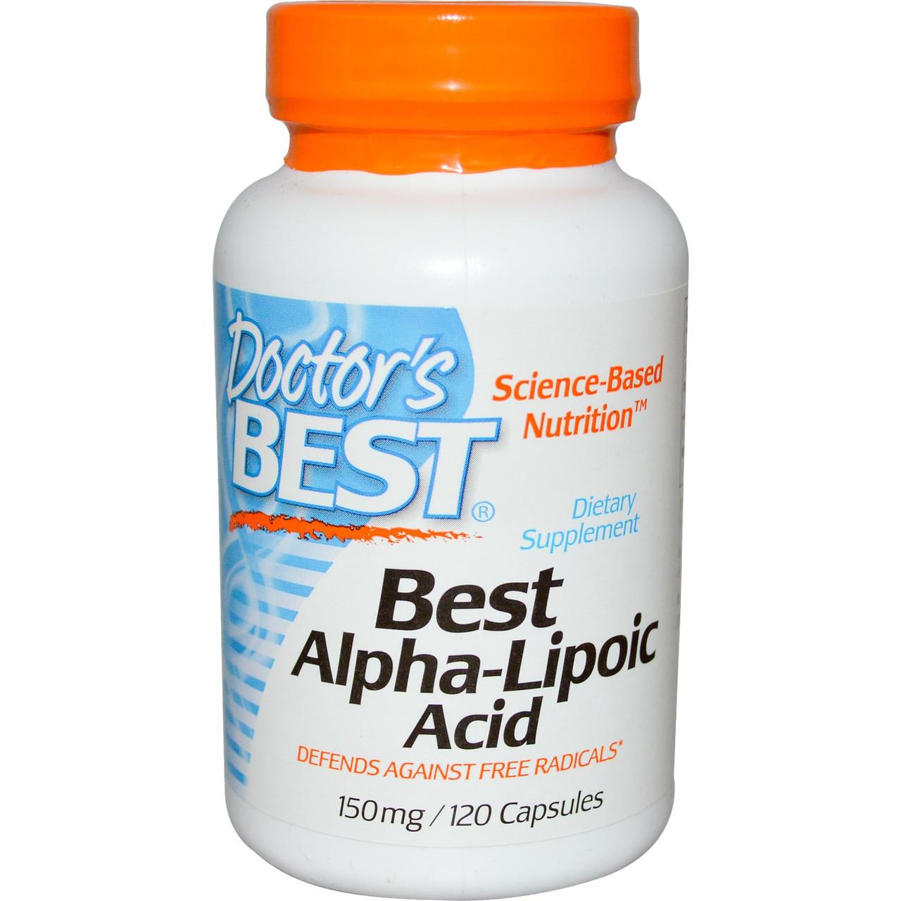 Альфа-липоевая кислота Doctor's Best, 150 мг, 120 капсул