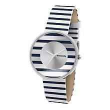 Женские винтажные кварцевые  часы Lambretta Cielo Stripes - синие, золотые, красные
