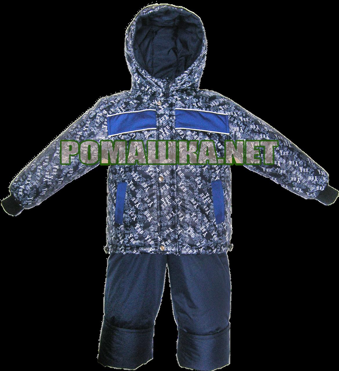 Детский весенний осенний комбинезон р. 92 для мальчика куртка и полукомбинезон на флисе 3008 Синий - Детский интернет-магазин «Ромашка» в Киеве