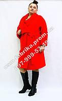 Батальное кашемировое пальто для женщин