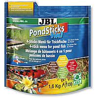 Корм для прудовых рыб Понд стикс 4в1 JBL (POND Sticks 4 in1),10л/1,6кг
