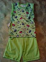 Летний салатовый костюм для мальчика, фото 1