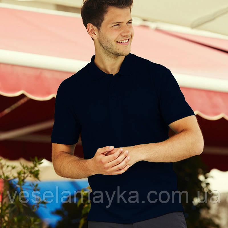 Глибоко темно-синя чоловіча сорочка поло Premium