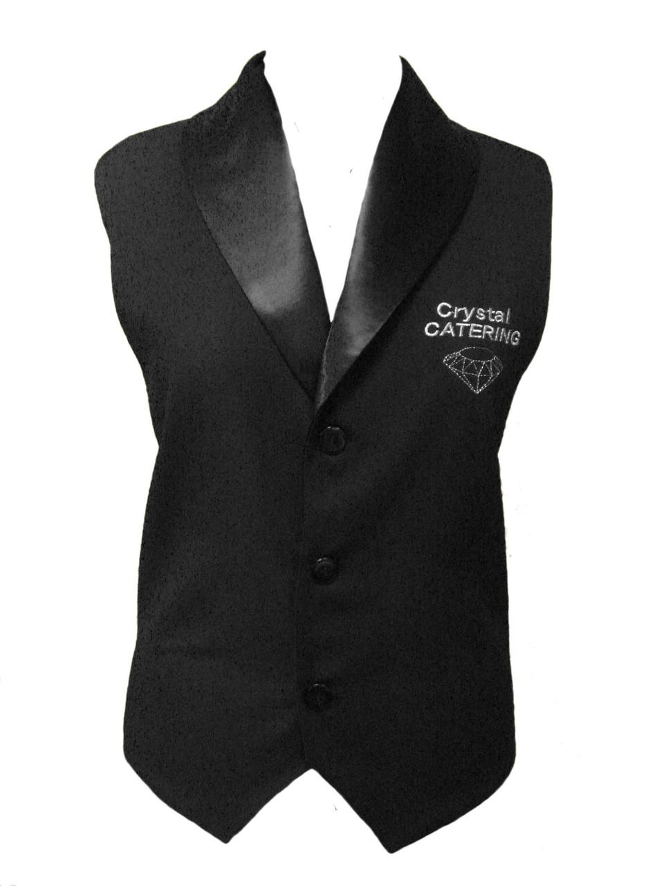 Жилетка для официанта с атласным (шалевым) воротником на подкладке без карманов Atteks - 01101