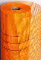 Сетка армированная 145г/м2  5*5мм (1м*50м) оранжевая Budmonster LOGO, фото 1