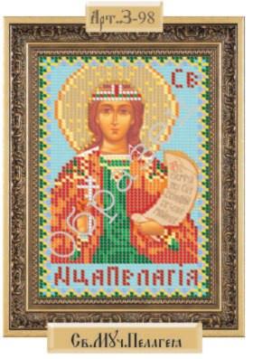 Схема для вышивки бисером «Св Мученица Пелагея»