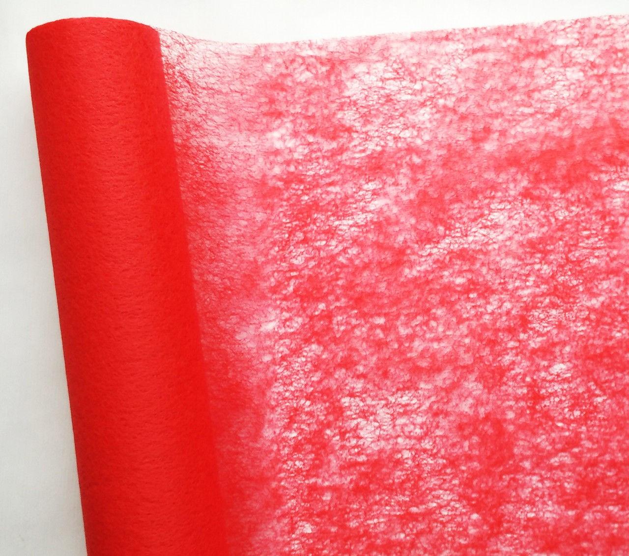 Флизелин красный 50 см х 10 м