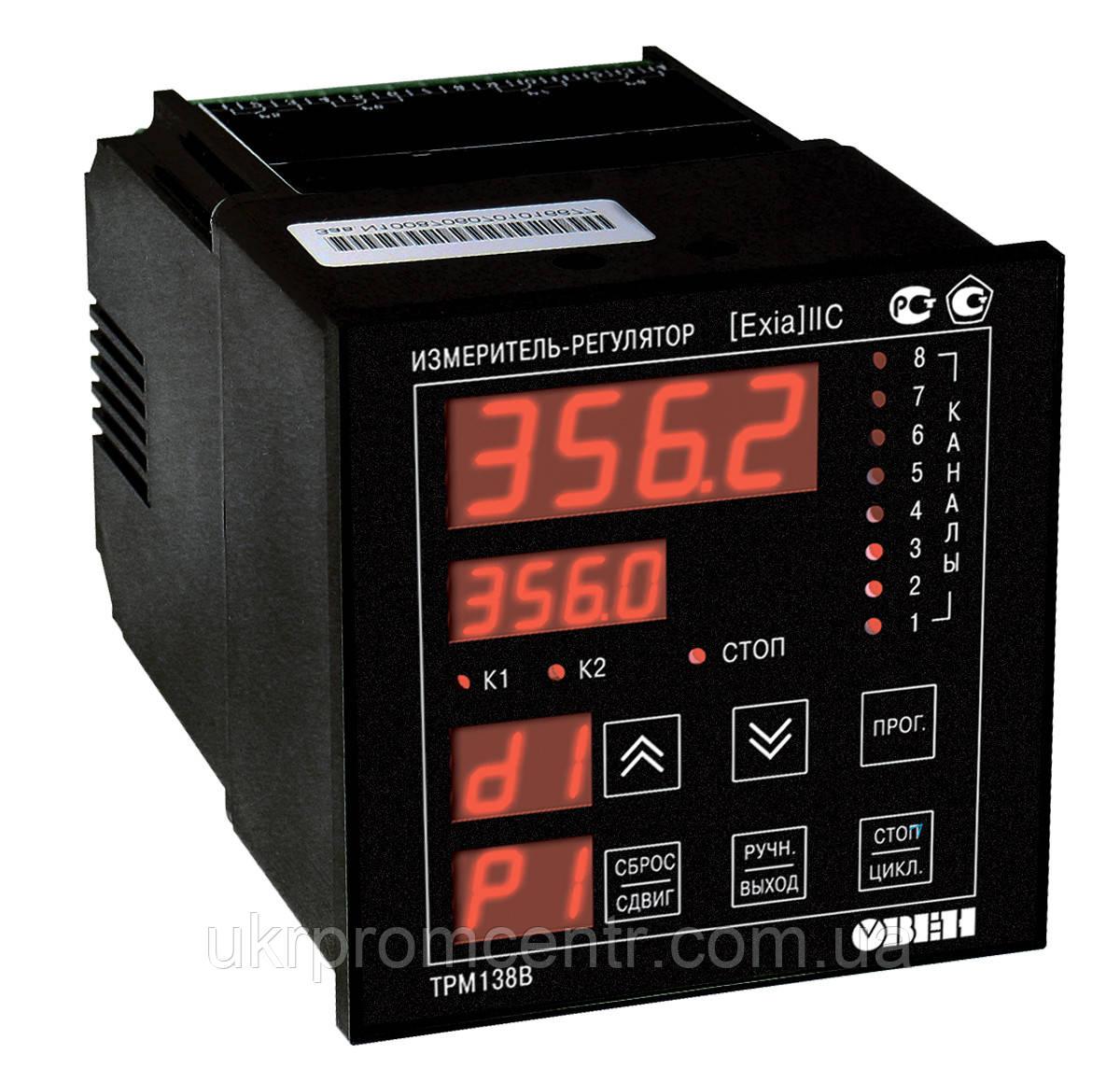 Вимірювач-регулятор температури, тиску восьмиканальний ОВЕН ТРМ138В