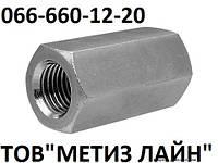 Гайка соединительная М6Х20  DIN6334 кл.пр.5
