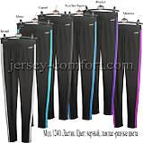 Спортивные брюки -леггинсы женские. Мод. 1240. (эластан).Лампас., фото 2