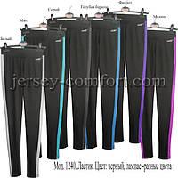 Спортивные брюки -леггинсы женские. Мод. 1240. (эластан).Лампас., фото 1