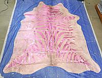 Гламурная розовая шкура коровы по зебру, фото 1