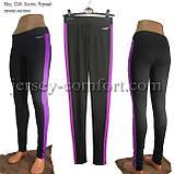 Спортивные брюки -леггинсы женские. Мод. 1240. (эластан).Лампас., фото 9