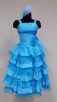 Прокат нарядное выпускное платье для девочки, 116-128см