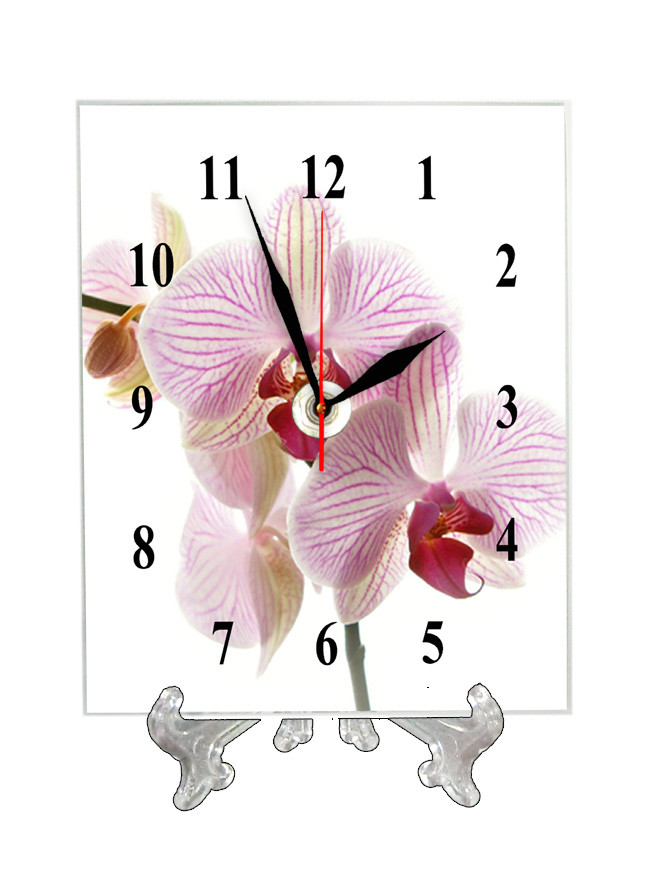 """Часы настольные """"Красивая орхидея"""""""