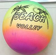 Мяч детский резиновый радуга, 120г в сетке