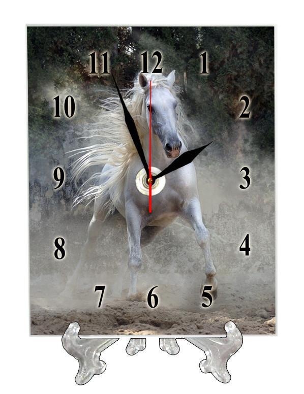 """Часы настольные """"Белый конь"""""""