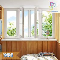 """Лоджия 3000x1450 WDS(ВДС) 400 eco Киев цена """"Окна Маркет"""", фото 1"""