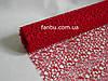 Ажурная сетка красная на метраж лист 0,5*0,5 м