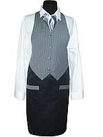 Комплект официанта (жилет + передник + рубашка)