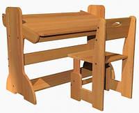 Буковая регулируемая парта 90 см,  стульчик растущий, фото 1