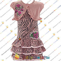 Детские трикотажные платья Размеры: 110 и 116 см (4094-1)