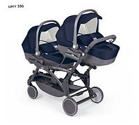 Детская универсальная коляска 2 в 1 для двойни Cam Twin Pulsar 2017