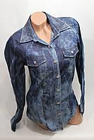 Женская молодежная джинсовая рубашка оптом в Хмельницком