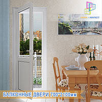 Балконные пластиковые двери Киев, фото 1