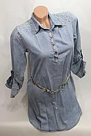 Женская молодежная джинсовая туника оптом в Хмельницком