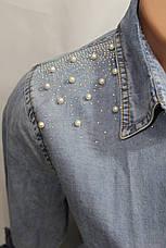 Женская молодежная джинсовая туника оптом в Хмельницком , фото 2