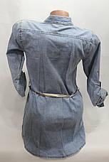Женская молодежная джинсовая туника оптом в Хмельницком , фото 3
