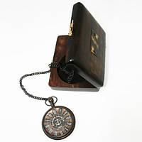 Часы карманные из черненой латуни Лоцман