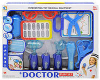 """Аптечка доктора """"Doctor+"""" в коробке (16 предметов, с подсветкой)."""
