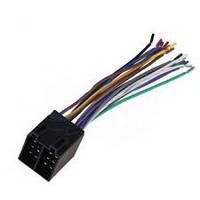 Разъём автомагнитолы ISO (штекер) сдвоенный, с кабелем