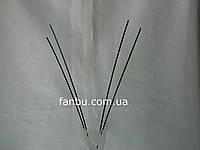Проволочный стебель 2,5 мм*30см (1уп=10шт) темно зеленый, фото 1