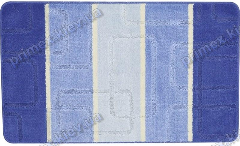 Набор ковриков для ванной, 60х100 + 60х50см. Прямоугольники, голубой