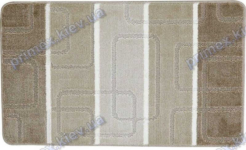 Набор ковриков для ванной, 60х100 + 60х50см. Прямоугольники, бежевый