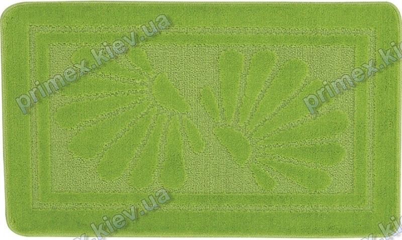 Набор ковриков для ванной, 60х100 + 60х50см. Ракушка зеленый