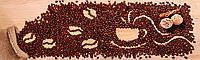 Стеклянный фартук для кухни - скинали Кофе в зерна