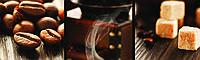 Стеклянный фартук для кухни - скинали Кофе коллаж