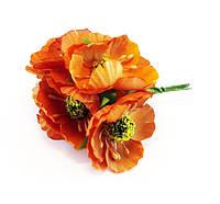 Искусственные цветы мак оранжевый